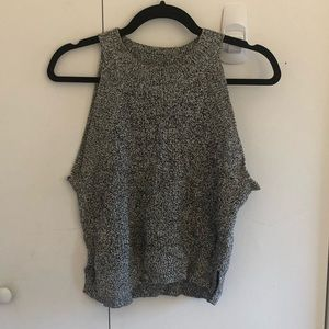 Wilfred Crevier Knit Top Salt & Pepper Size S